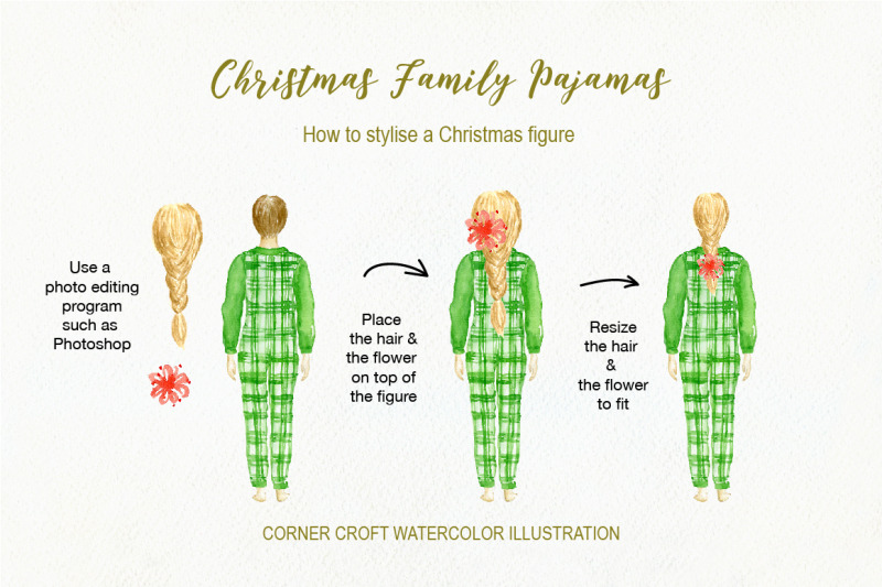 watercolor-christmas-family-pyjamas-illustration