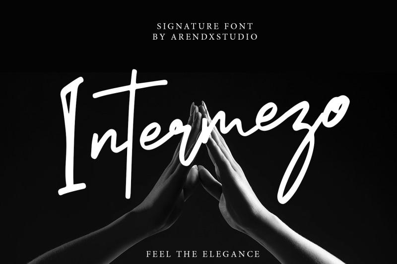 intermezo-signature-font