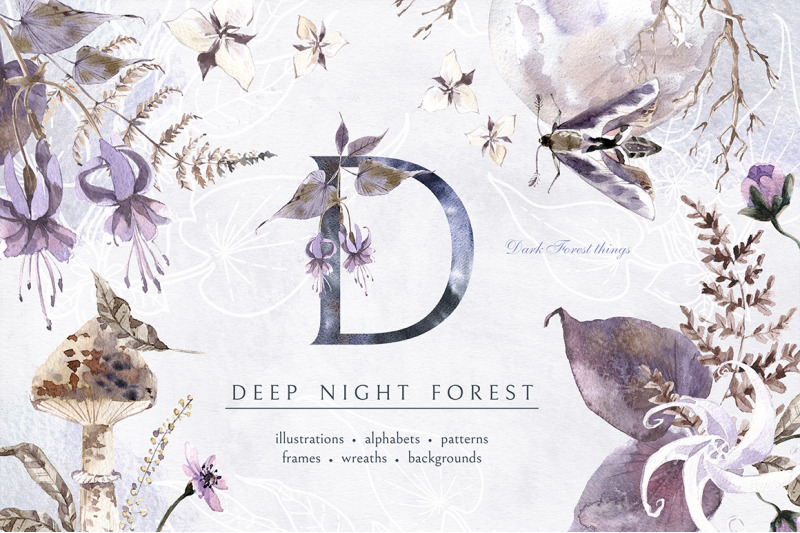 deep-night-forest-graphic-kit
