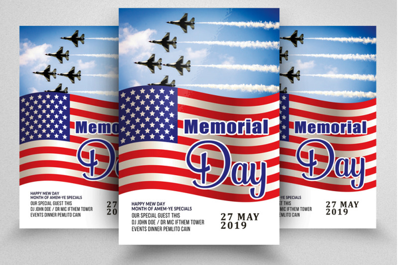 memorial-day-remember-event-flyer-template