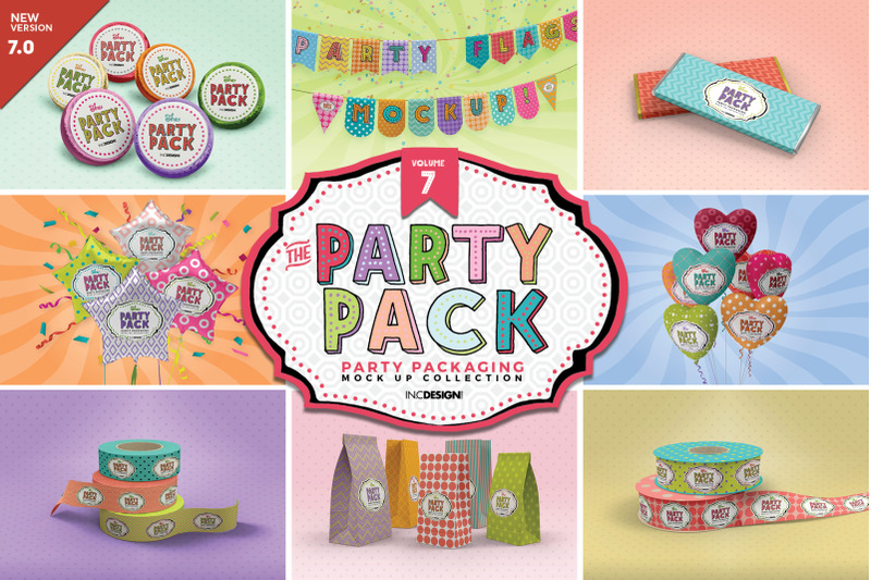Free Party Packaging Mockups Vol.7 (PSD Mockups)