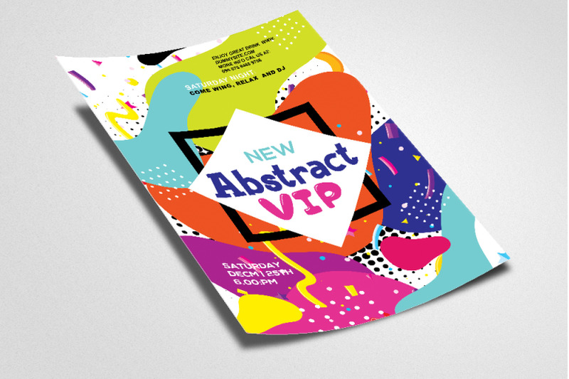 abstract-style-vip-flyer-poster