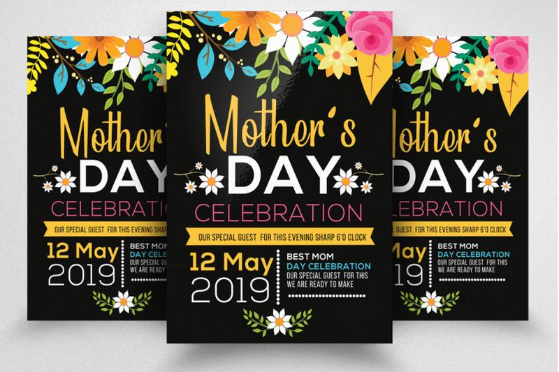 mothers-day-celebration-flyer-template