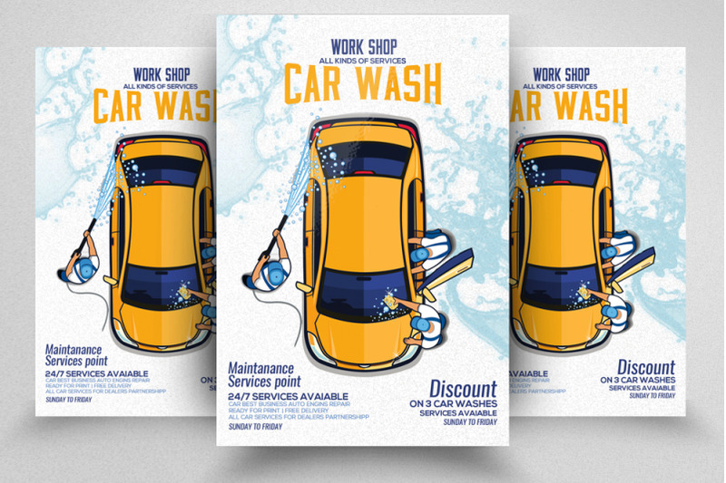 car-wash-service-flyer-poster-template