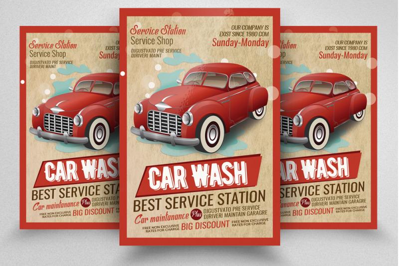 car-wash-service-station-flyer-template