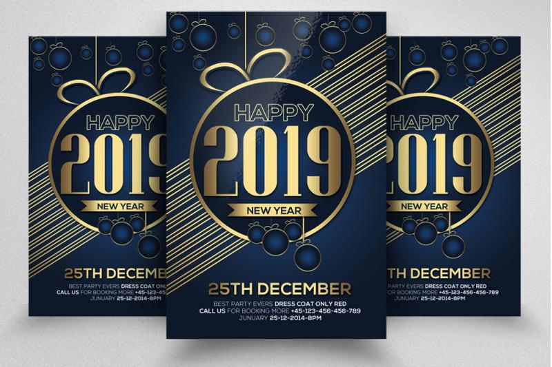4-happy-new-year-flyers-bundle