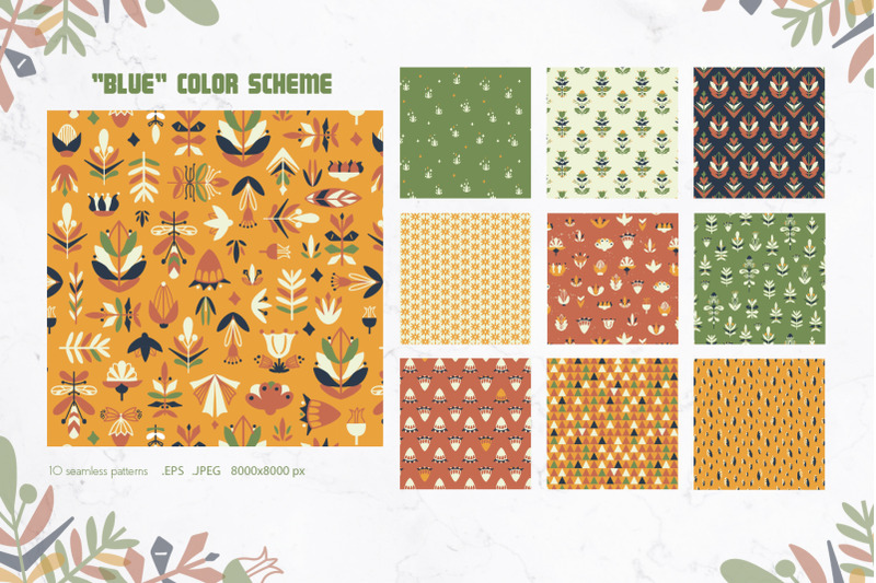 floral-seamless-patterns-set