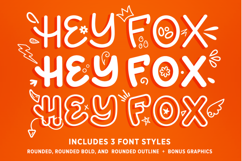 hey-fox-rounded-font-trio-bonus