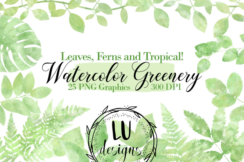 watercolor-greenery-botanical-clipart-foliage-leaves