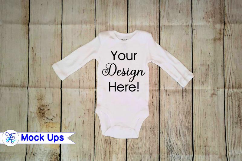 Free Baby Long Sleeve Onesie Mock Ups (PSD Mockups)