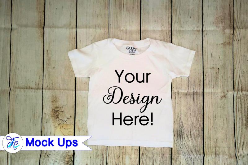 Free White Toddler Shirt Mock Up (PSD Mockups)