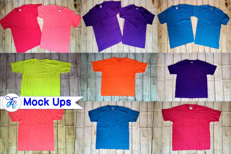 Free Youth Shirts Mock Up Bundle (PSD Mockups)
