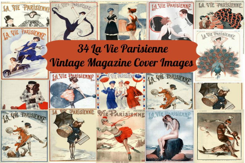 34-la-vie-parisienne-vintage-magazine-art-images-commercial-use