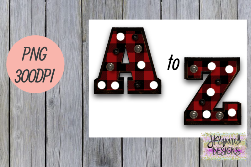 red-plaid-marquee-letters