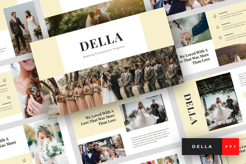 della-wedding-powerpoint-template
