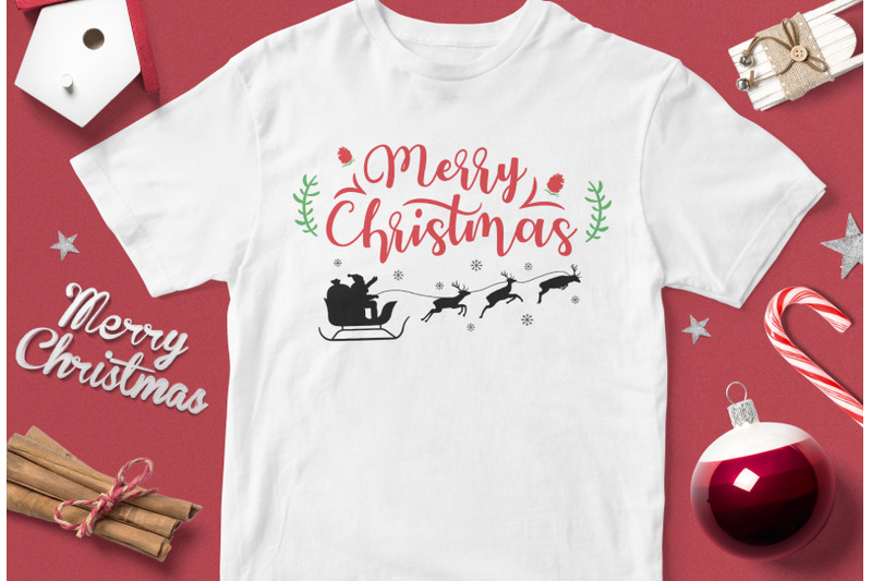 merry-christmas-santa-and-deer-funny-christmas-quotes-svg