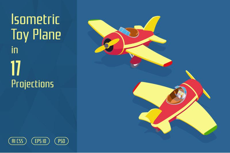 isometric-toy-plane