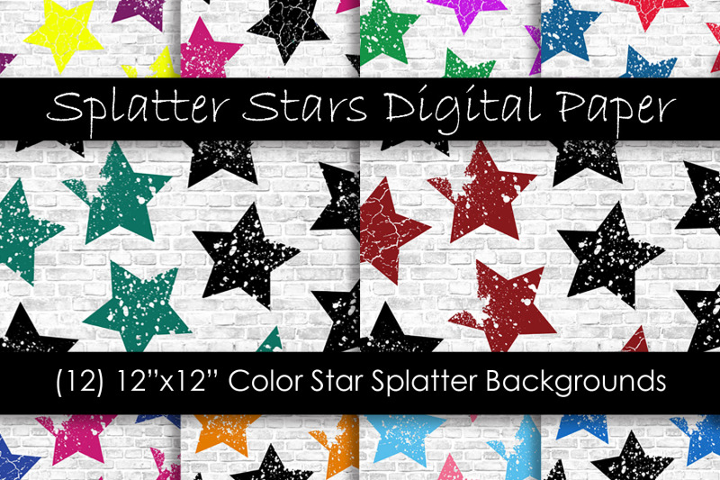 stars-pattern-digital-papers-multi-color-star-backgrounds