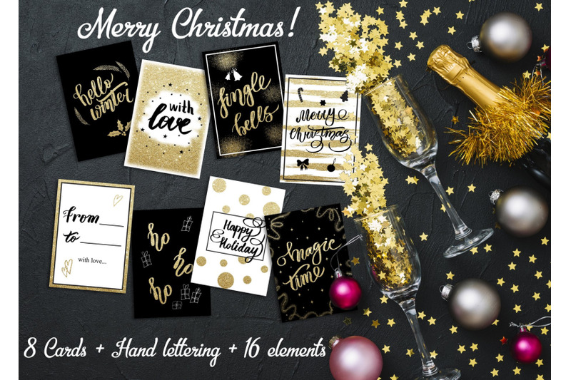 christmas-gold-lettering-cards