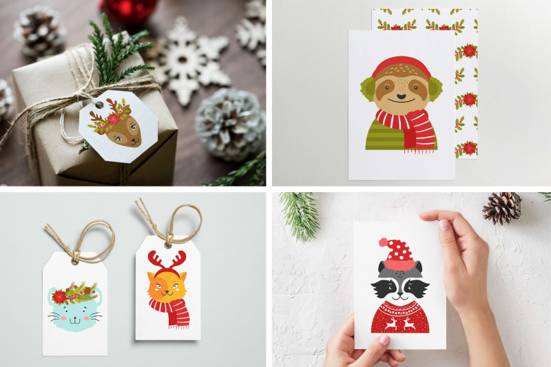 cute-animals-christmas-party