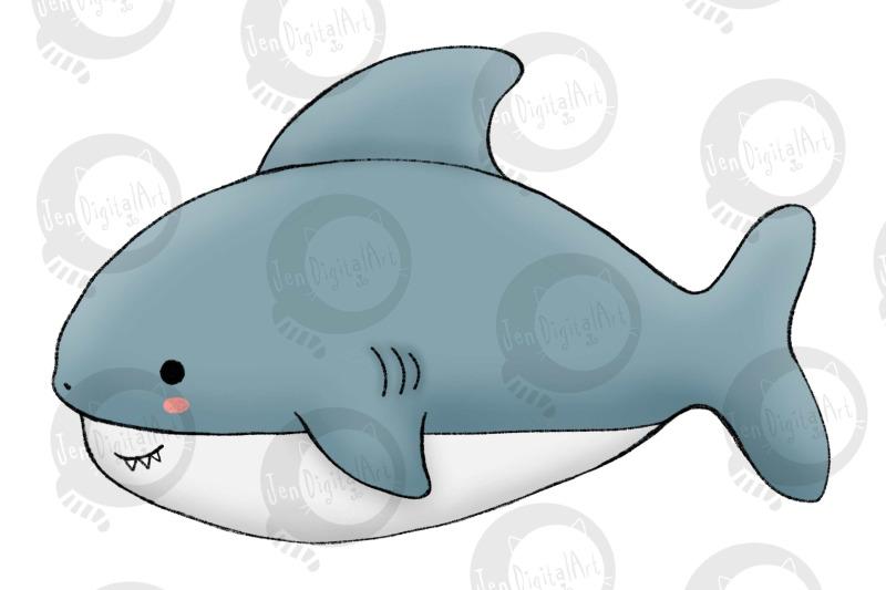 under-the-sea-cartoon-sea-creatures-13-clip-art-elements
