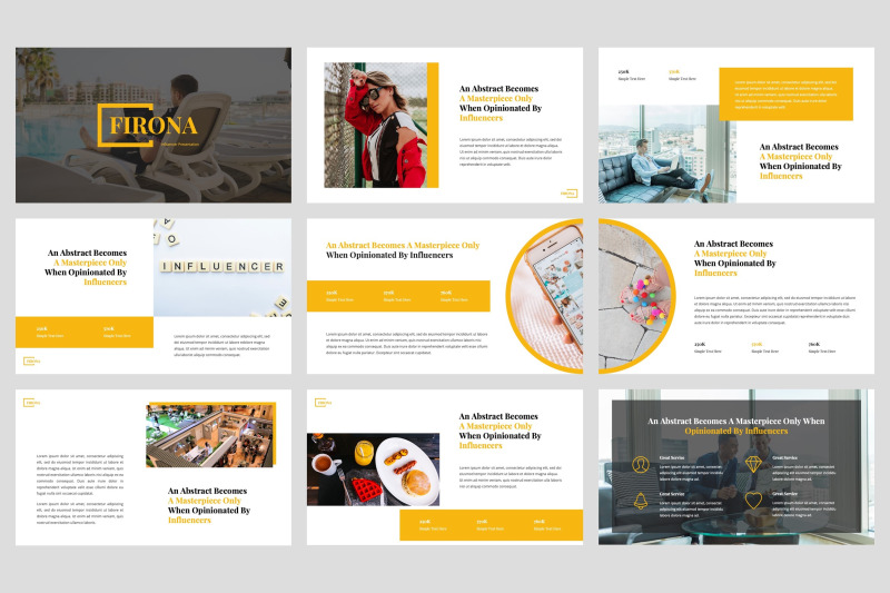 firona-influencer-google-slides-template