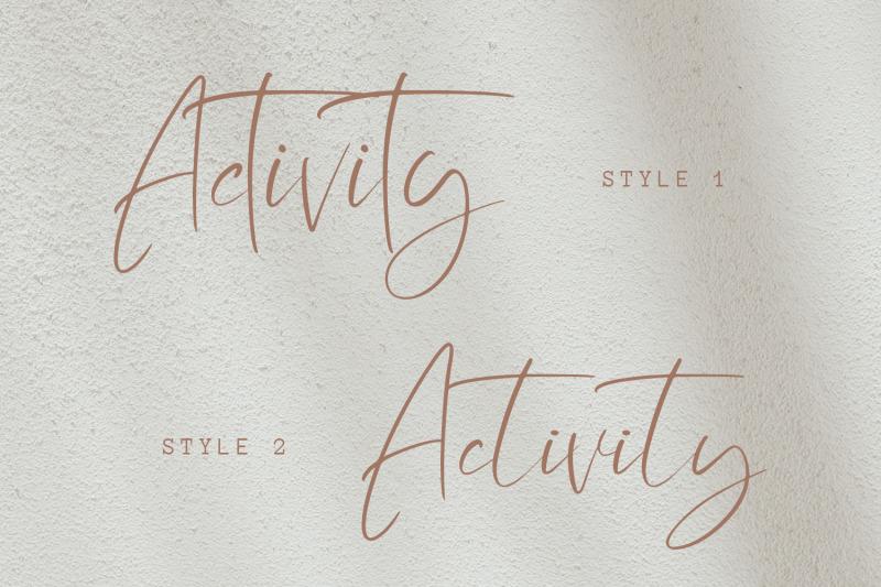 activity-modern-script-font