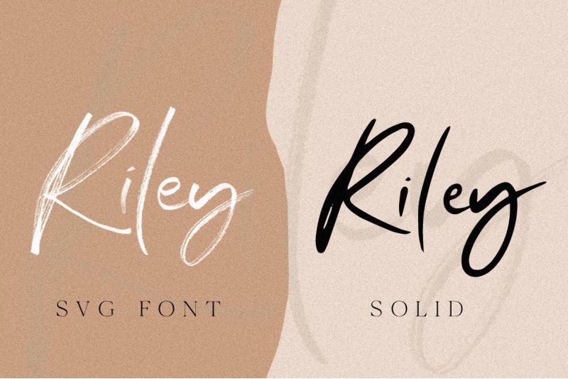 riley-svg-amp-font