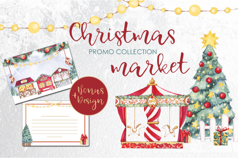 christmas-market-watercolor-mini-set-1
