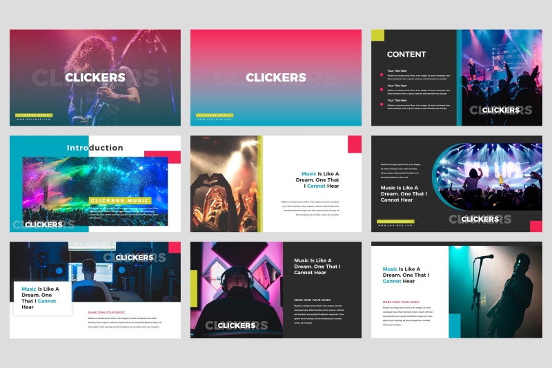 clickers-music-band-google-slides-template