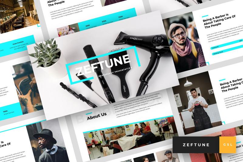 zeftune-barbershop-google-slides-template