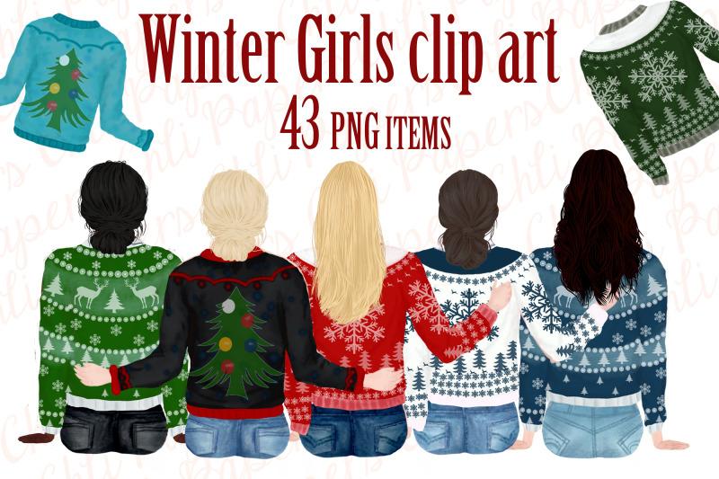 girl-best-friend-clipart-winter-clipart-christmas-clipart