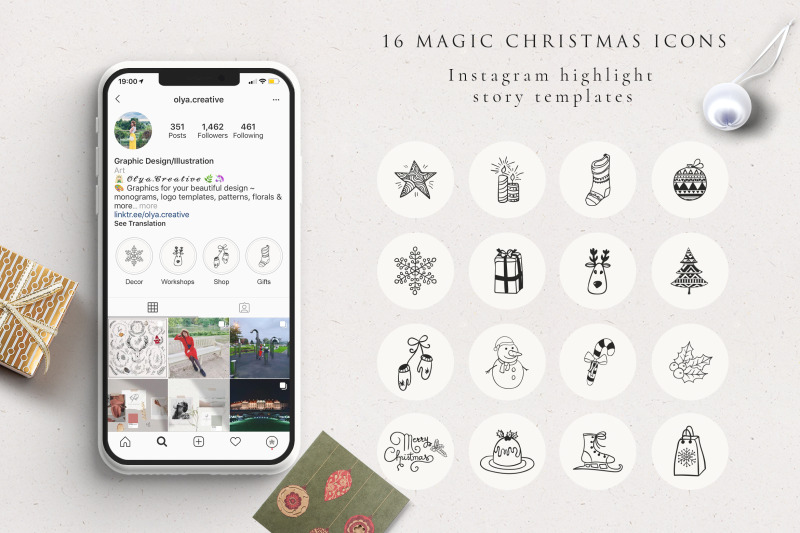 xmas-instagram-highlight-story-icons