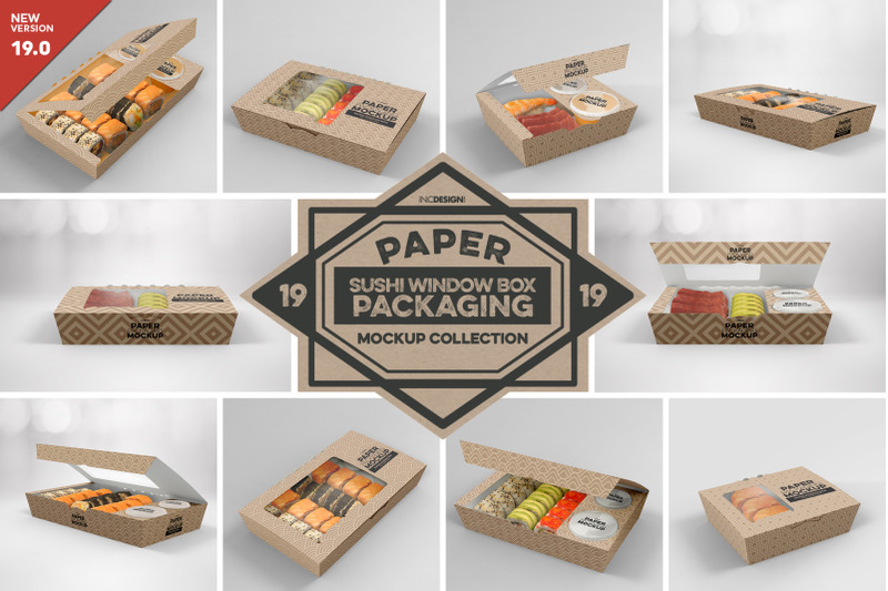 Free VOL. 19 Paper Box Packaging Mockups (PSD Mockups)