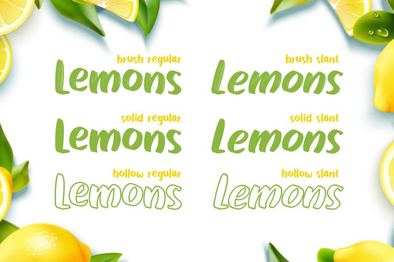 lemons-bright-family-display-font