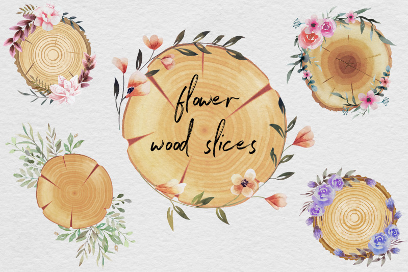 wood-slices-watercolor-clipart