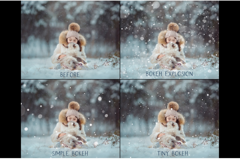 bokeh-snow-overlays
