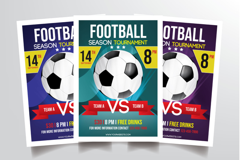 football-tournament-flyer-template