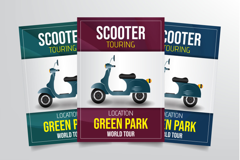 scooter-touring-flyer-template