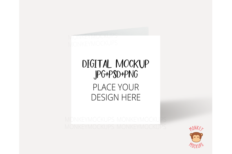 Free Square Invitation Card Mockup - JPEG PNG PSD Smart Object - (PSD Mockups)