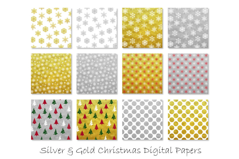 gold-and-silver-christmas-digital-paper-snow-backgrounds