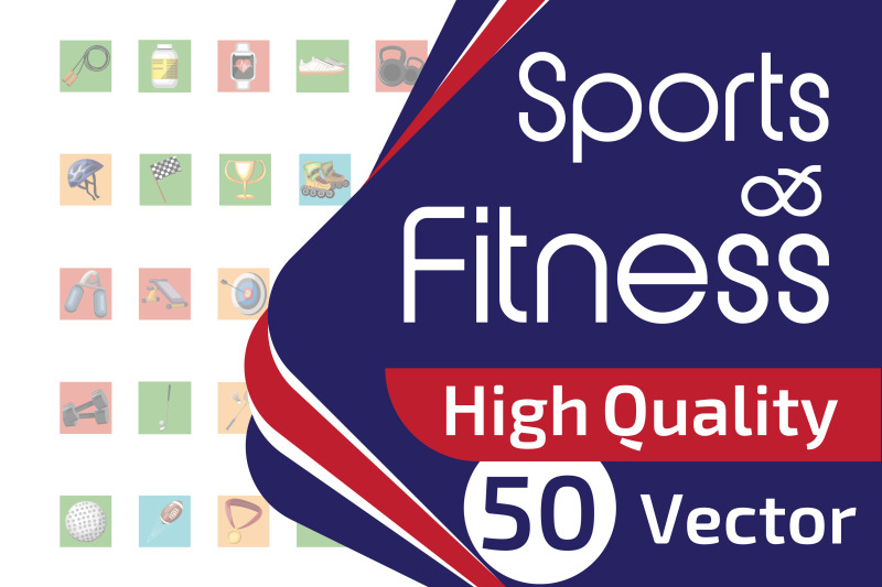 50x-sport-and-fitness-icon-collection