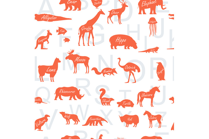 pattern-with-zoo-alphabet