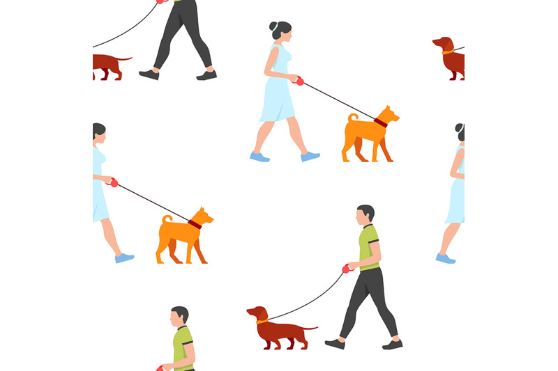 man-and-woman-walking-the-dogs