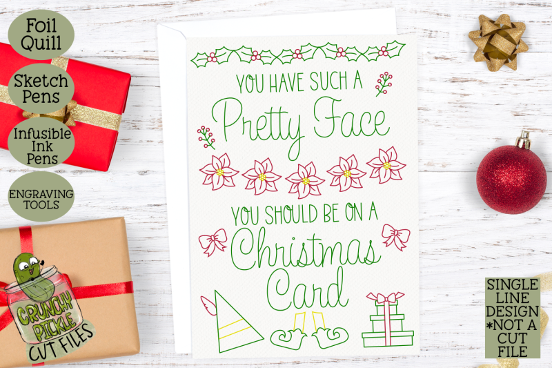 foil-quill-christmas-card-pretty-face-elf-quote