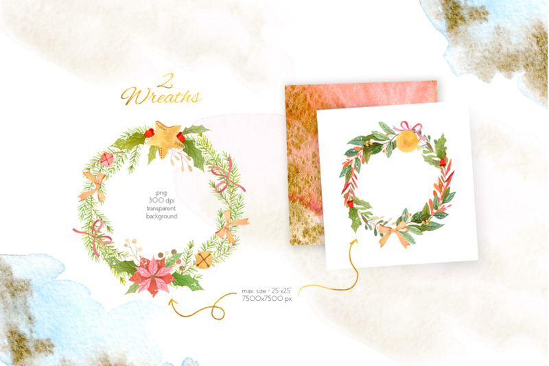 watercolor-christmas-compositions-set