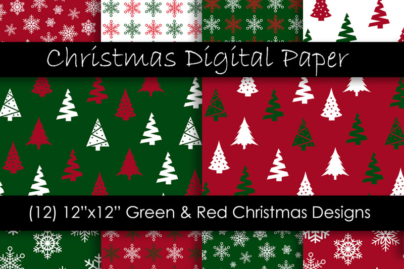 christmas-digital-paper-red-and-green-christmas-background