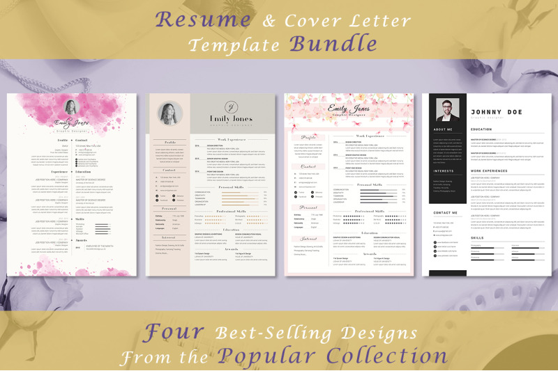 resume-bundle-popular-collection-4-resume-amp-coverletter-template