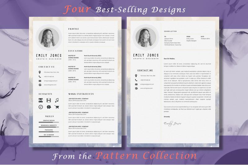 resume-pattern-bundle-4-resume-amp-coverletter-template