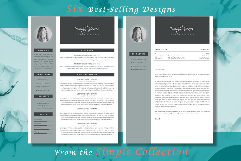 resume-simple-bundle-6-resume-amp-coverletter-template